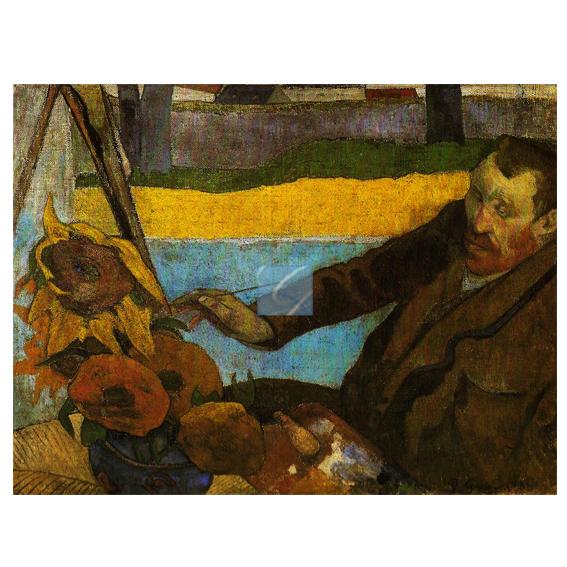 해바라기를 그리는 빈센트반고흐, 폴 고생, 1888.jpg
